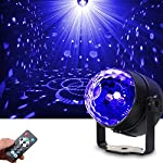 SOLMORE LED UV Black Light 3W Disco Ball Party Lights DJ Lights Sound Activated Strobe Light Stage Lighting for House Party Nightclub Karaoke Dance Wedding Ballroom Bedroom Event(with Remote) by SOLMORE
