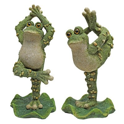 Design Toscano Boogie Down Dancing Frog Statues, Multicolored
