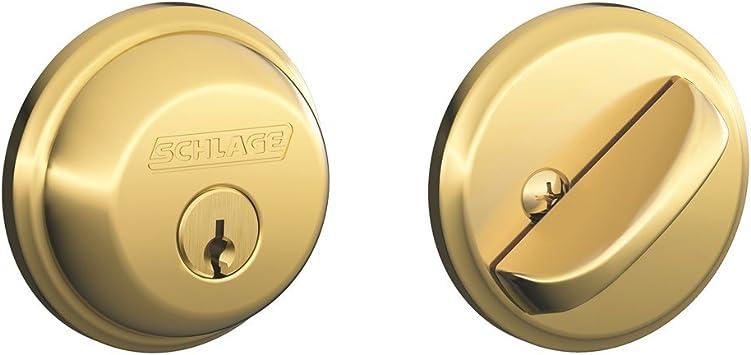 New Schlage Door Deadbolt B60N 505 605 Double Cylinder BRIGHT BRASS Rating G1 KD