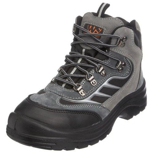 Sterling Safetywear - Botas de cuero para hombre Negro