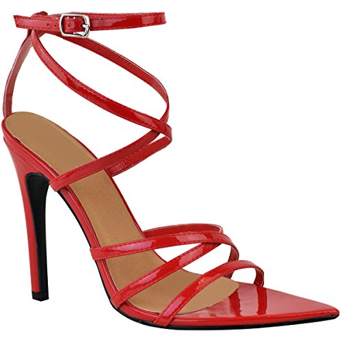 Ankle Patent Womens Sandals There Red Heel Shoes Strap Party Barely Prom High Thirsty Size Fashion 6Sqxw5zH15