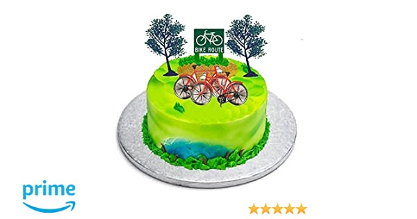 Cakesupplyshop B9781- Bicycle(bike) Cycling Cake Topper: Amazon.com: Grocery & Gourmet Food