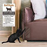 Bambalo Couch Shield upholstery guard, house furniture protection against cat clawing, Cat Scratching Training Aids, tape. Include - 4 PC Self adhesive sheets protectors 19'' inch long x 8'' inch wide