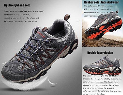 Pour Promenades Les Trekking Randonnée Chaussures Basses Sneakers Rose Et Noir Femme De Outdoor Hommes H6316 Gnediae vfwIq