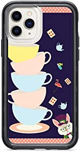 Kaidan iPhone XR X XS Tea Party 6s 6 Alice in Wonderland Cups 11 Pro Max Case 8 7 Plus 12 Mini Samsung Galaxy S20 S10 + S10e White Rabbit S9 S8 Note 20 Ultra 10 9 Playing Cards Google Pixel 3 XL am43