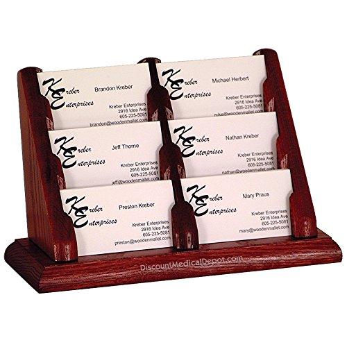 DMD Countertop Business Card Holder, 6 Pocket