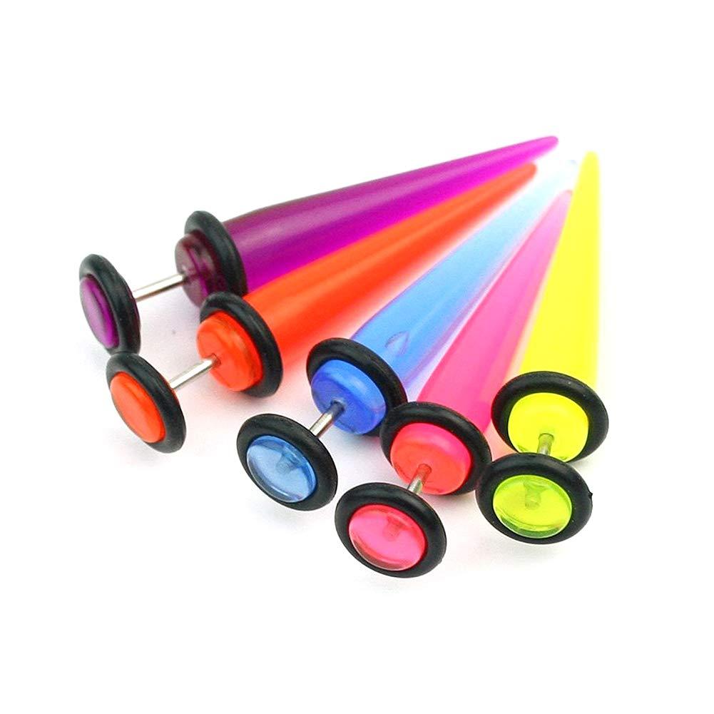 lujiaoshout Home Produit False bright earrings earrings fake ear puncture expansion jewelry 5 colors 10 PCS