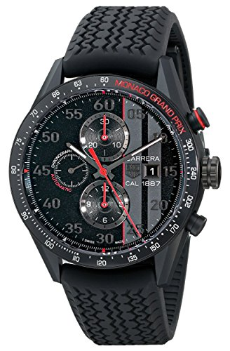 TAG Heuer Men's CAR2A83.FT6033 Carrera Analog Display Swiss Automatic Black Watch (Tag Heuer Carrera Monaco Grand Prix Price)