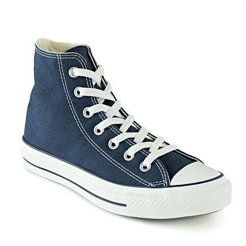 Converse Chuck Taylor High-Top All-Star Basketball Shoes Sneakers, Mens Size 7.5, Womens Size 9.5 Navy Blue Jay, 149501C