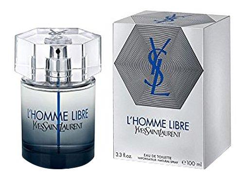 (Yves Saint Laurent L'Homme Libre Eau De Toilette Spray for Men, 3.3 Ounce)