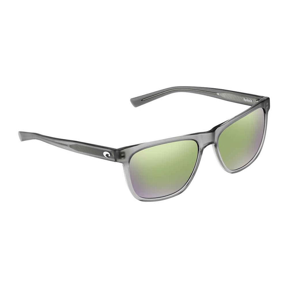 Costa Apalach Matte Grey Crystal Plastic Frame Green Mirror Lens Unisex Sunglasses APA230OGMGLP by Costa Del Mar
