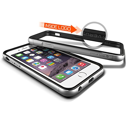 Verus Iron Premium Bumper mit Schutzfunktion und Schrammen für Apple iPhone 6 schwarz/silber