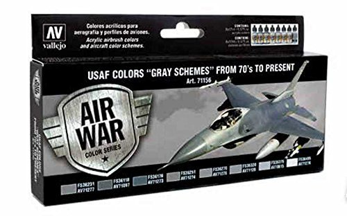 Vallejo USAF Colors Gray Schemes From 70's to Present by Vallejo Air War Color Series ()