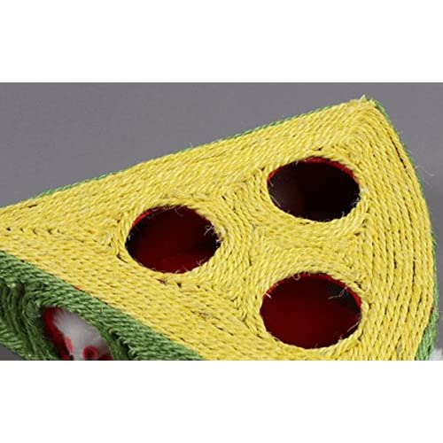 best Laugh Cat Cheese Sisal Rope Cat Toy With 6 Furry Mice Toy for Cat Scratching