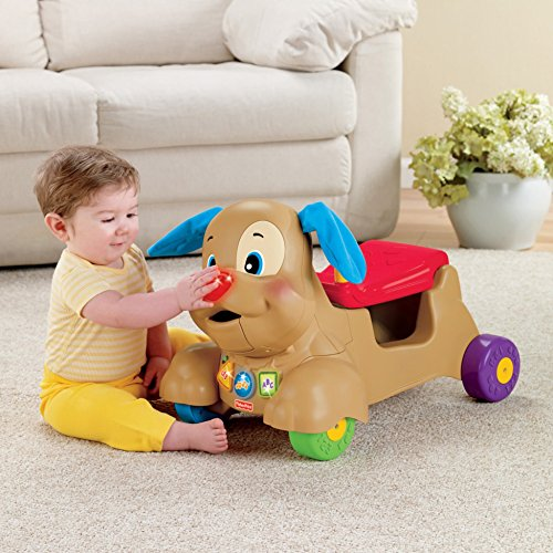 51GHS4tXiHL - Fisher-Price Laugh & Learn Stride-to-Ride Puppy [Amazon Exclusive]