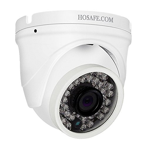 HOSAFE Dome IP Camera with Audio Outdoor 1080P, Home Security Surveillance Camera, 50ft Night Vision, Motion Detection Alert, Support Windows/Mac/Android/iPhone, Compatible with ONVIF NVR or Software -