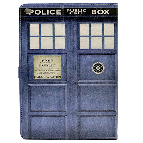 YHB Doctor Who Tardis Pattern Leather Stand Case Cover For Apple ipad Air 2 (2014 Model)