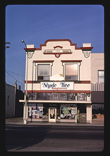 24 x 16 Ready to Hang Gallery Wrapped Fine Art Canvas Print of: Shade Tree Sunglasses, Northeast 6th Street, Grants Pass, Oregon 1987 Roadside Americana, J Margolies 70a