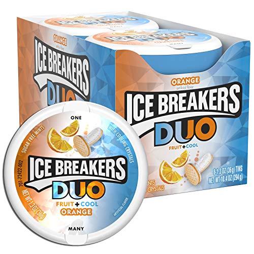 Ice Breakers Duo Orange Flavored Mints, 8 Count