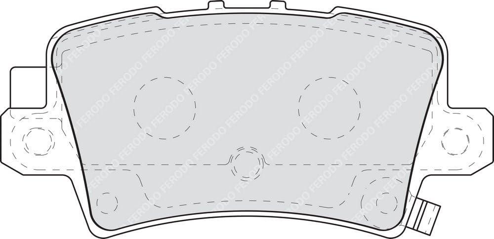 Ferodo Fdb1862 Premier Bremsbelagsatz Scheibenbremse 4 Teilig 4 Stück Auto