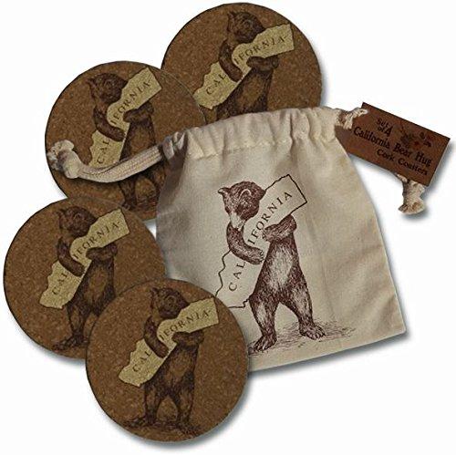 California Bear Hug, I Love California Set of 4 Cork ()