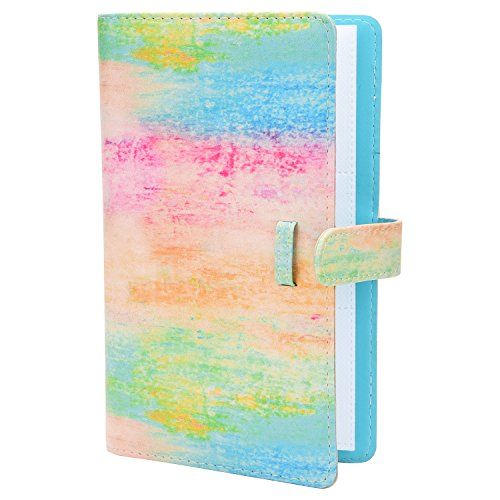 (Sunmns Colorful Wallet PU Leather Photo Album for Fujifilm Instax Mini 9 8 90 8+ 26 7s Instant Camera Film, Polaroid Snap Zip Z2300 PIC-300 Film (Rainbow))
