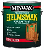 Minwax Water-Based Helmsman Spar Urethane Indoor, Outdoor Clear Gloss Crystal Clear 1 Gl