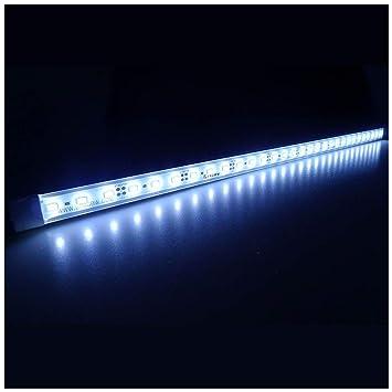 LTRGBW SMD 5730 5800K-6200K 12V DC 12W LED blanco frío brillante estupenda del acuario del LED Franja de ...