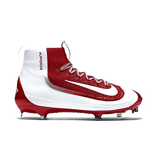 buy online 44946 ba823 NIKE Mens Air Huarache 2kfilth Elite Mid Metal Cleats 9 1 2 US Red