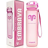 Best Sports Water Bottle - 32oz Large - Fast Flow, Flip Top Leak Proof Lid w/One Click Open - Non-Toxic BPA Free & Eco-Friendly Tritan Co-Polyester Plastic-Pink