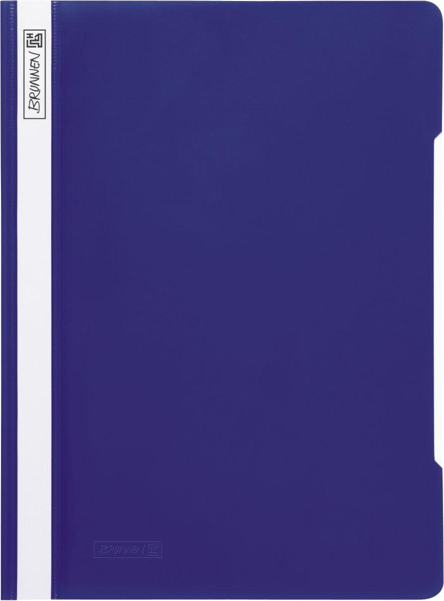 blau Brunnen 102010930 Schnellhefter A4, aus PP, glasklares Deckblatt