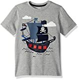 : Gymboree Baby Toddler Boys' Fun Little Tee, Pirate Ship/Grey Heather, 18-24 Months