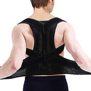 Back Straightener Posture Corrector for Women & Men - Adjustable Lumbar & Back Brace for Support and Providing Pain Relief from Neck, Back & Shoulder, Improve Eliminate Bad Posture for Correct Posture