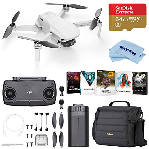 DJI Mavic Mini Drone FlyCam Quadcopter with 2.7K Camera 3-Axis Gimbal Bundle with Case, 64GB microSD Card, Corel PC Software Pack