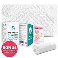 BabyMaryCo Pack N Play Waterproof Crib Mattress Pad Cover FITS ALL Mini&Folda...