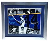 Hank Aaron Braves Autographed Signed 16x20 Framed Photo 715 Hr Mint Autograph Steiner Coa
