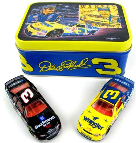1999 Winston All Star Race Wrangler Monte Carlo and Goodwrench Service Plus Monte Carlo 2 Car Set With Collectible Sam Bass Rendition Tin Dale Earnhardt #3 Goodwrench Service Plus Monte Carlo 1/64 Scale Diecast Cars Action Racing Collectables ARC Limited Edition
