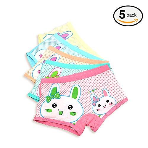 Girls Underwear, FunkyDog Little Toddler Underwear Girls Boxer Briefs Car Print Assorted Girl Shorts Underwear 2T-5T Car Boxer Shorts