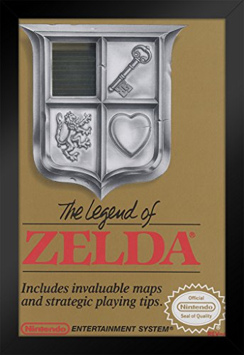 Pyramid America The Legend of Zelda Nintendo NES Video Game Gaming Framed Poster 14x20 inch -