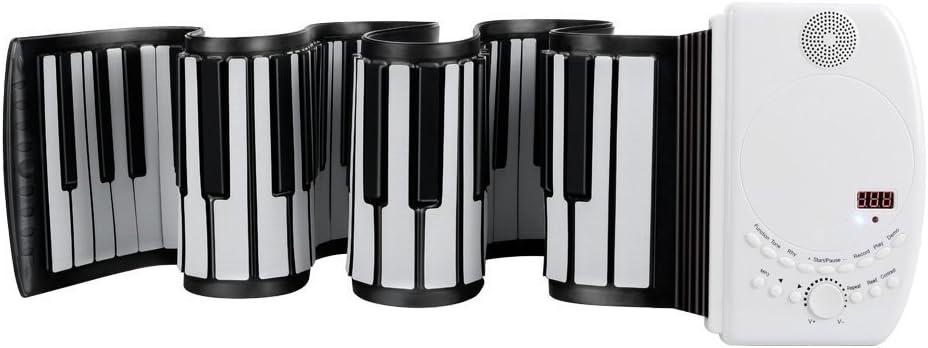 EVERYONE GAIN Portable 88 Teclas USB Soft Flexible Piano Teclado Electrónico Flexible Principiante Niños Practica Instrumentos Musicales