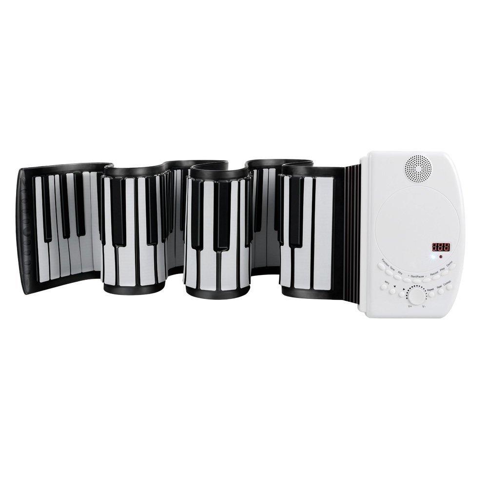 EVERYONE GAIN Portable 88 Teclas USB Soft Flexible Piano Teclado Electrónico Flexible Principiante Niños Practica Instrumentos Musicales LTD