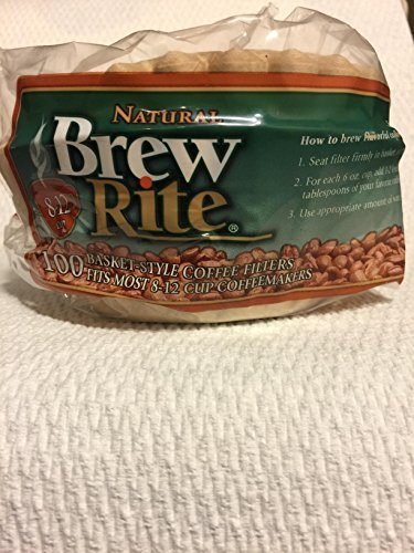 Brew Rite Natural Basket Style Coffee Filters 100 filters ()