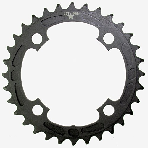 32t Thin - USA Made 94mm BCD 4-Bolt SHARKTOOTH Narrow Wide Mountain Chainring MADE IN USA- NEW (32T)