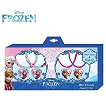 Disney Frozen Elsa and Anna Best Friends Necklace and Bracelet Jewelry Set of 4