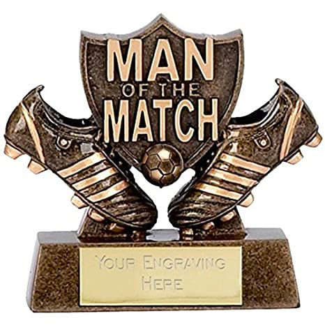 Man of the Match Football  Trophy Award Prize  FREE ENGRAVING