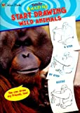 Start Drawing! Wild Animals, Golden Books Staff, 0307212580