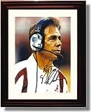 Framed Alabama Crimson Tide Football Nick Saban Headset Autograph Photo Print