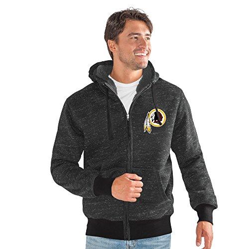 G-III Sports NFL Washington Redskins Discovery Transitional Jacket, Large, Black (Mens G-iii Jacket)