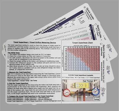 [해외]HVAC Quick Reference Cards for Refrigerant Charging and Troubleshooting / HVAC Quick Reference Cards for Refrigerant Charging and Troubleshooting