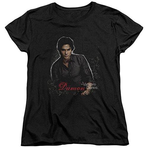 Vampire Ideas (Womens: The Vampire Diaries - Damon Ladies T-Shirt Size XXL)
